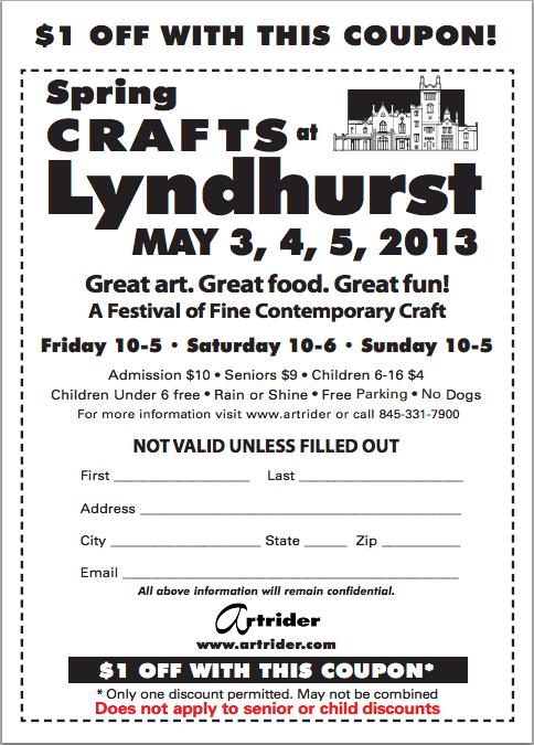 Lyndhurst Craft Show Coupon