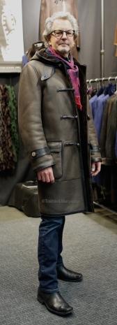 Mens Napa Merino Shearling Duffle Coat