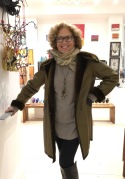 The fabulous Leeor modeling a coat.....(we were all freezing in the nasty weather!)